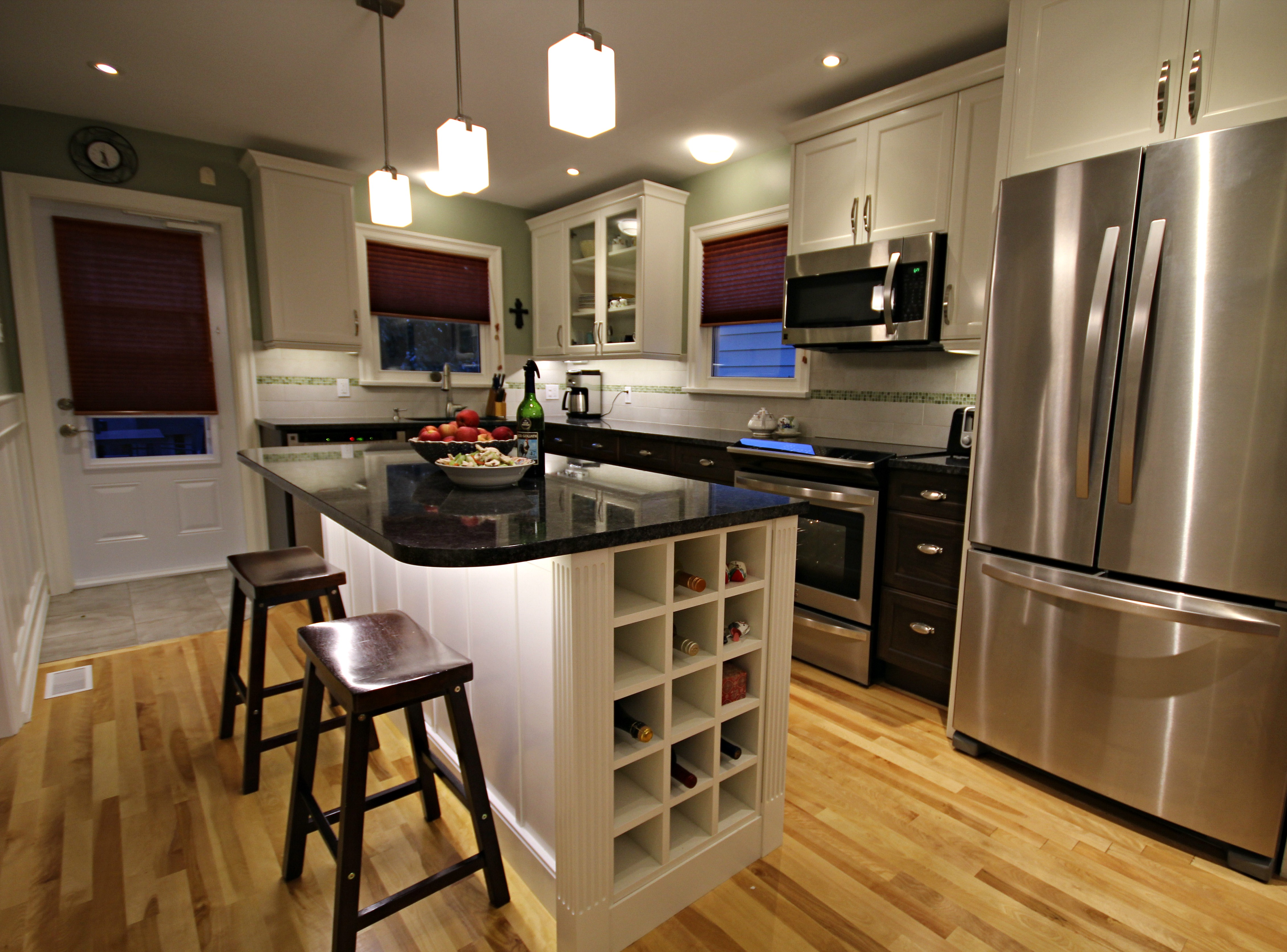 Captivating West End Halifax Kitchen Remodeling Opens A Wall To The Dining Room