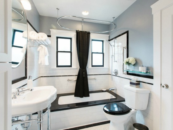 Black White Bathroom Remodel Case Design Remodeling