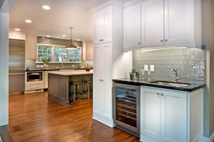 transitional-kitchen-with-wine-fridge