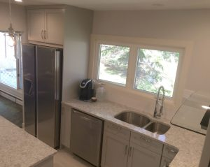 Built in microwave on kitchen island