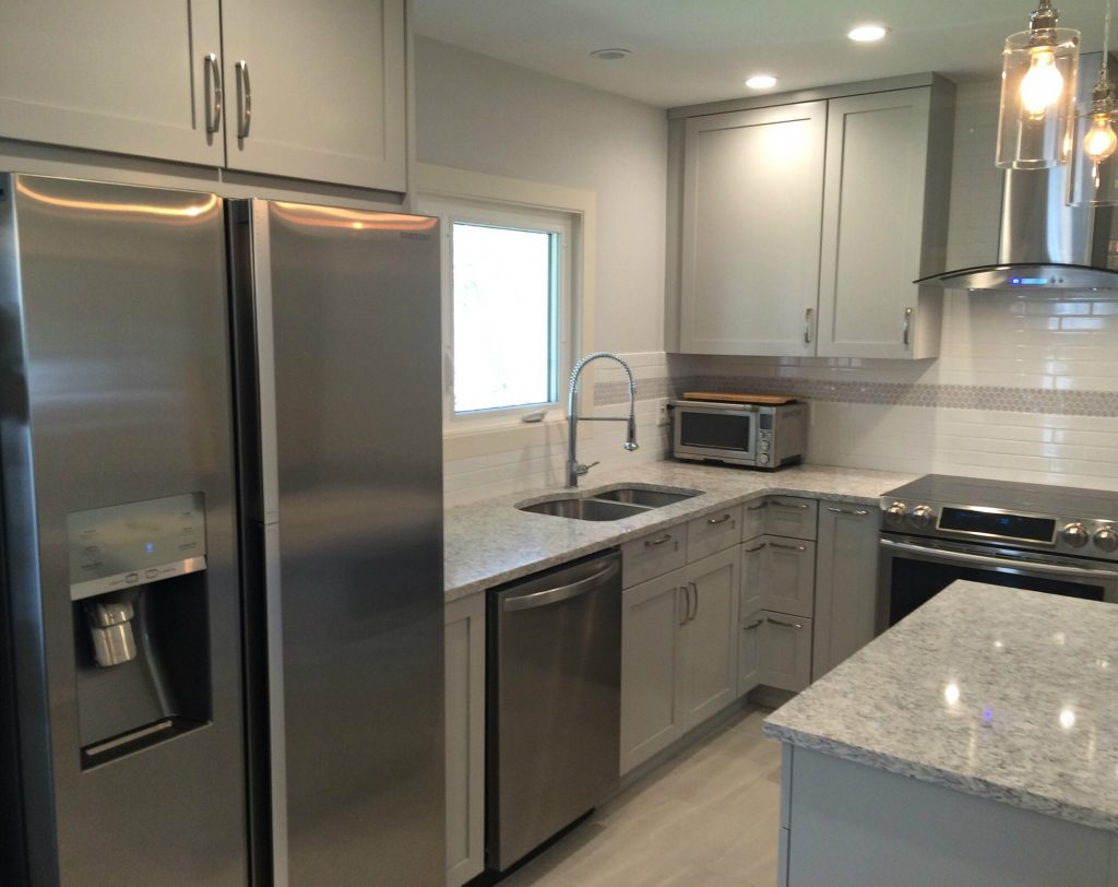 New stainless appliances, new countertops
