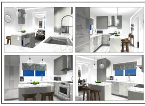 3-D kitchen rendering