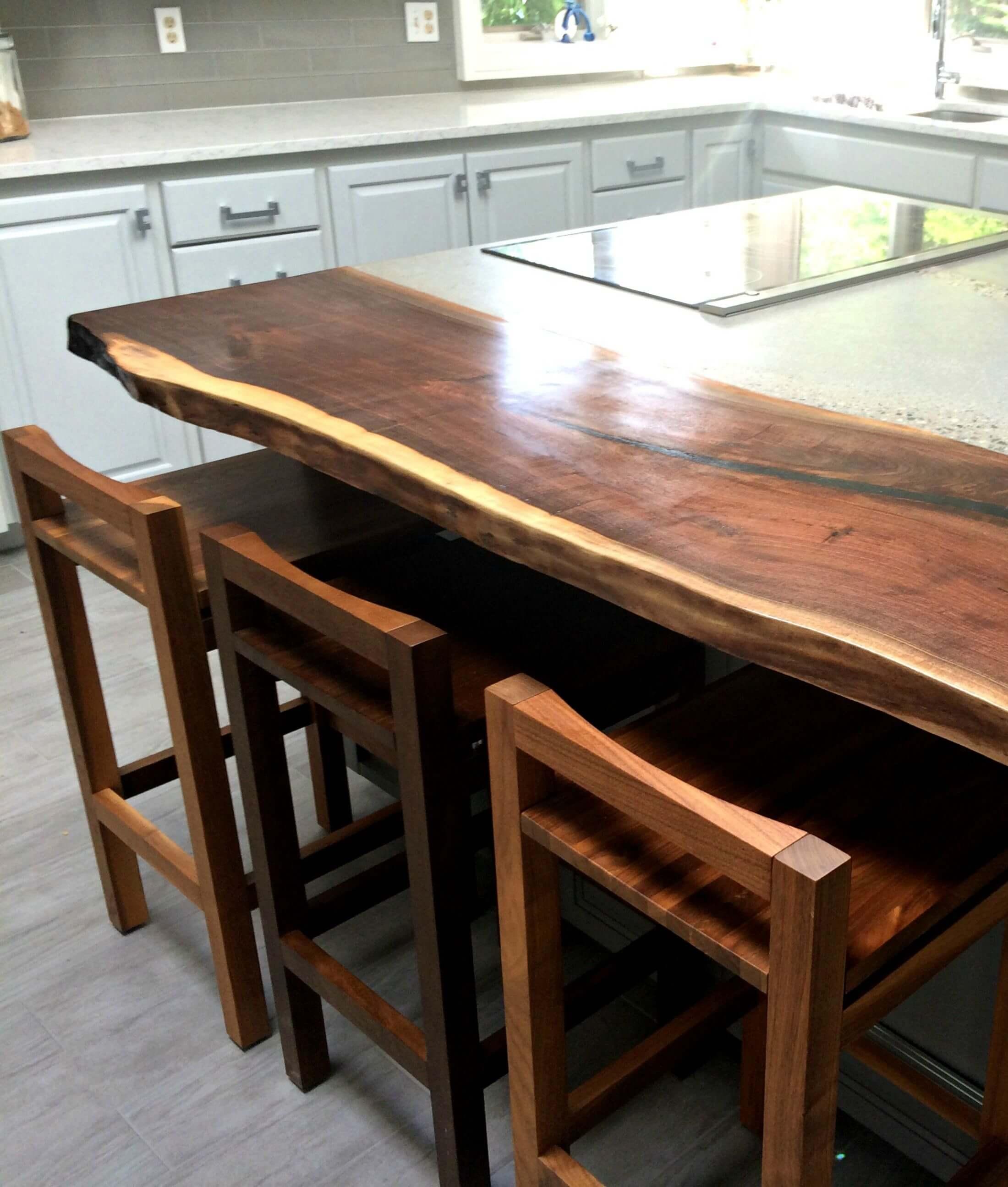 Kitchen cabinet updates tantallon for Live edge kitchen island
