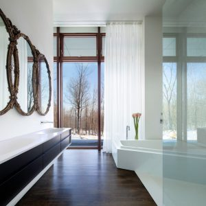 unique-bathroom-mirrors-in-Bathroom-Modern-with-floor-to-ceiling-windows-dark-wood-floor-2