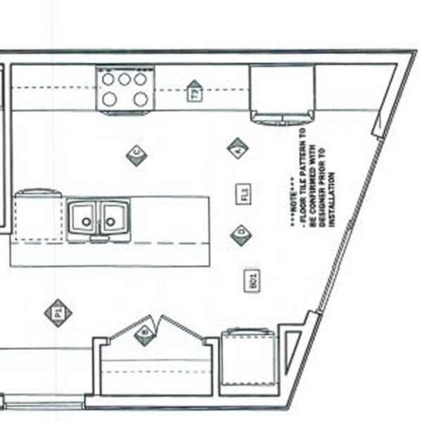 Case design kitchen addition design layout drawing