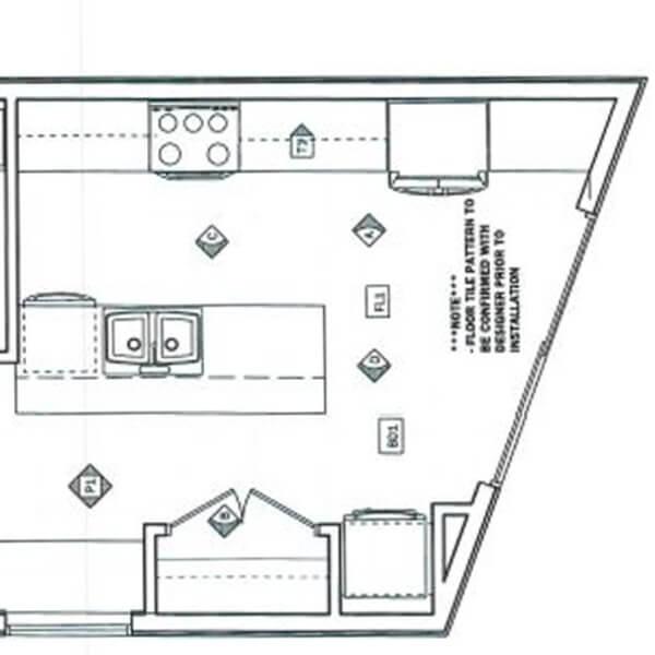 Case design kitchen addition design layout drawing