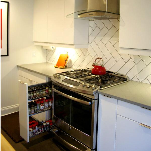 european kitchen addition rennovation halifax spice rack cupboard hidden