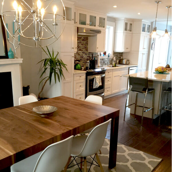 South End Halifax high end Kitchen Remodel marble counter