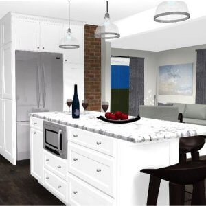 South End Halifax Kitchen Remodel Grew into a Full-home Makeover rendering
