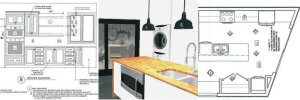 Case design kitchen addition design rendering drawing