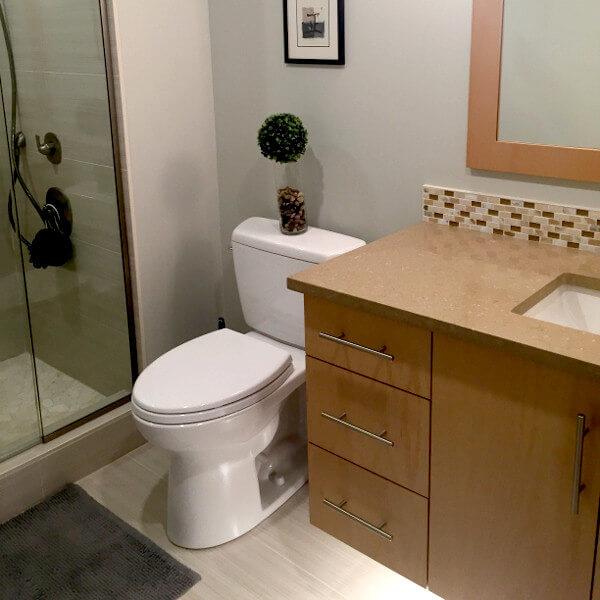 Bathroom remodel floating vanity halifax