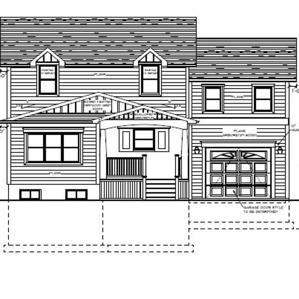 elevation plan new home addition