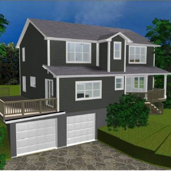 second story addition rendering drawing