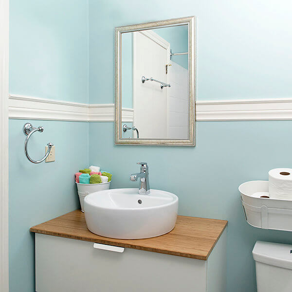 raised shink vanity kids bathroom
