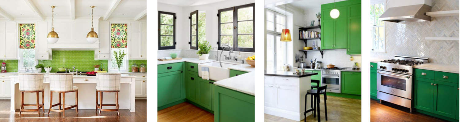 Green kitchen colloage