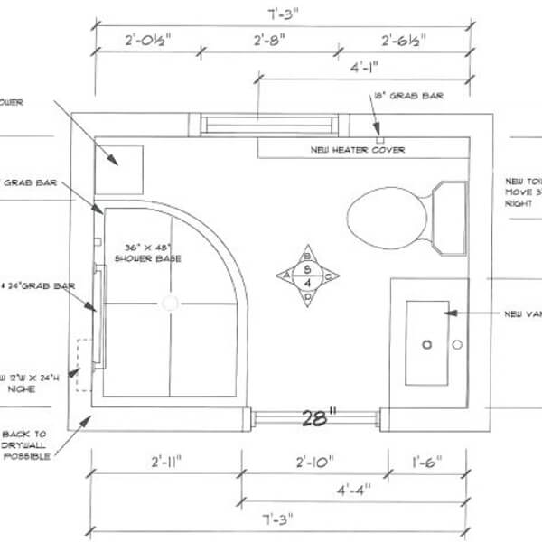 floor plan bathroom renovation
