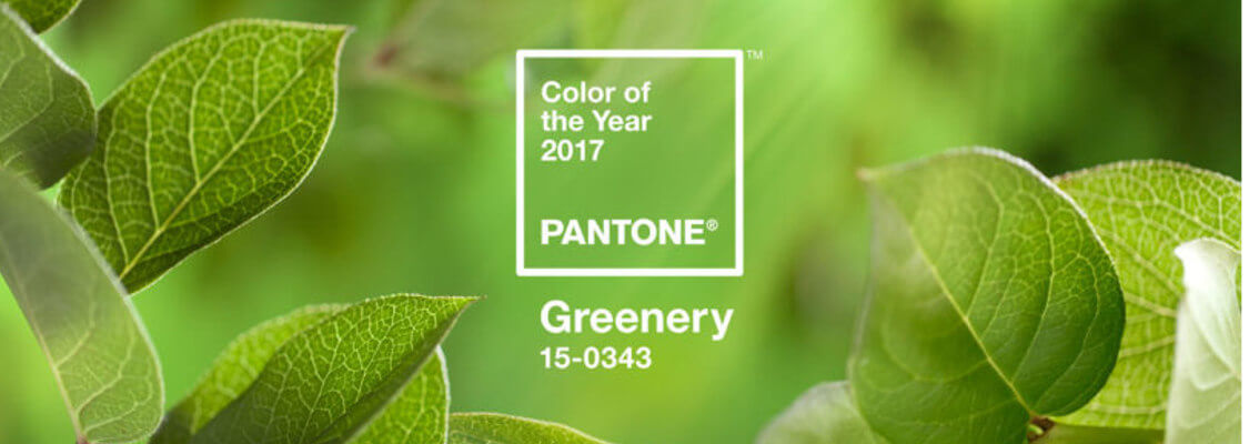 green pantone colour of the year