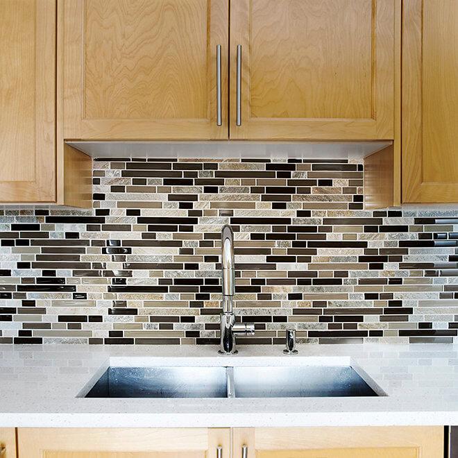 kitchen tile, counter top update and undermount sink Halifax Case Design