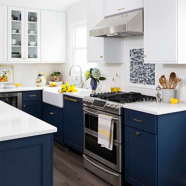 Dream Kitchen Sink: Navy & White Dream Kitchen