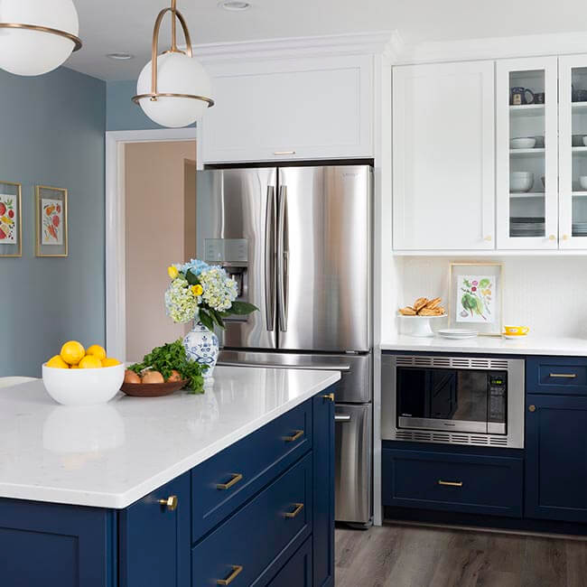 Navy White Dream Kitchen Case Design Remodeling
