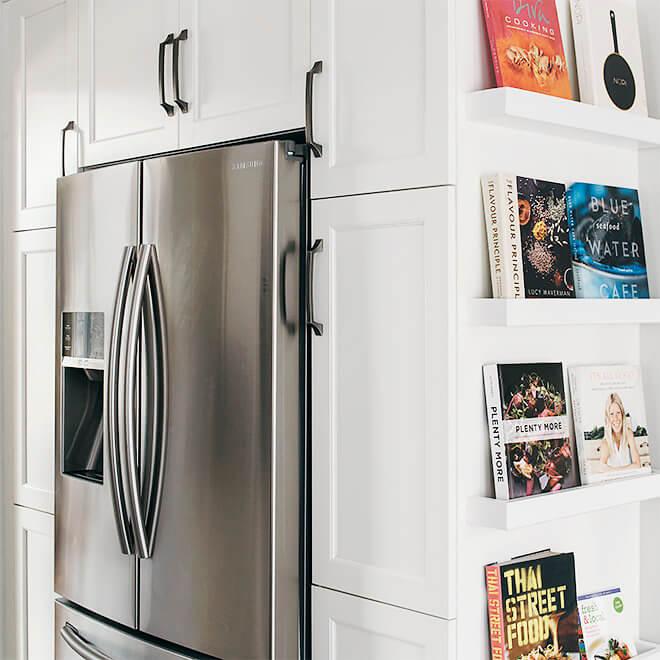 new contemporary kitchen custom book case Case Design Halifax