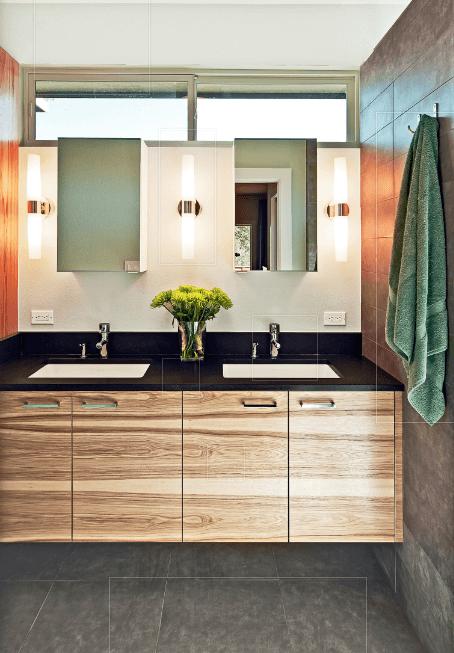 double vanity undermount sink single faucet builtin soap dispenser