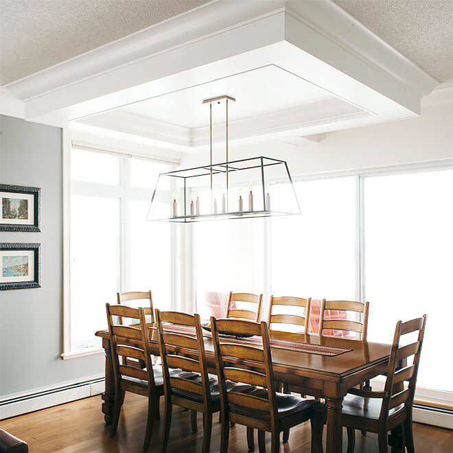 condo remodel coffered ceiling design
