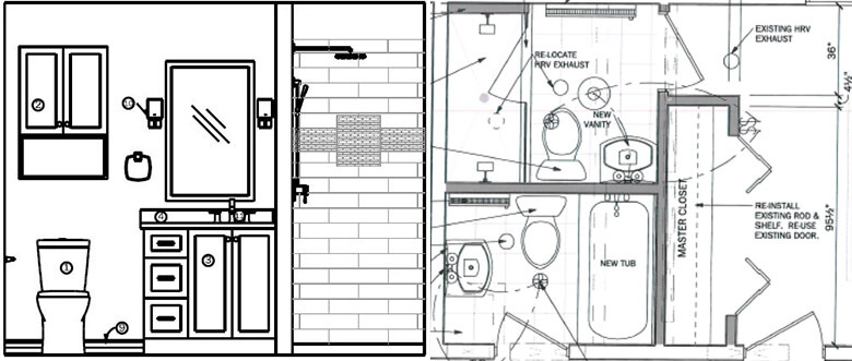 elevation and floor plan drawings