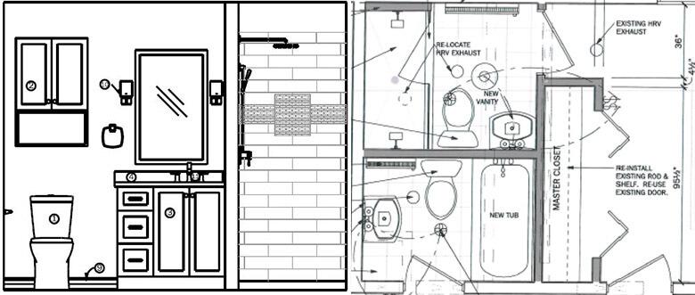 elevation and floor plan drawings