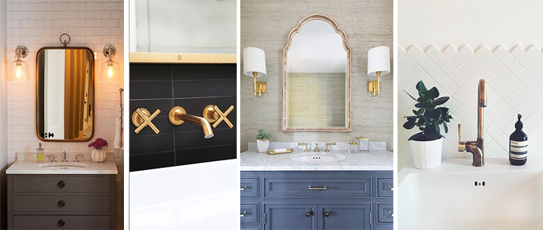 Bathroom accessories lighting faucets