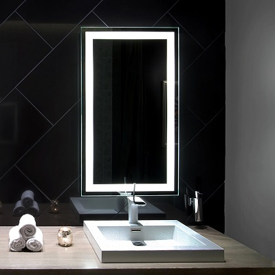 The lighted mirror